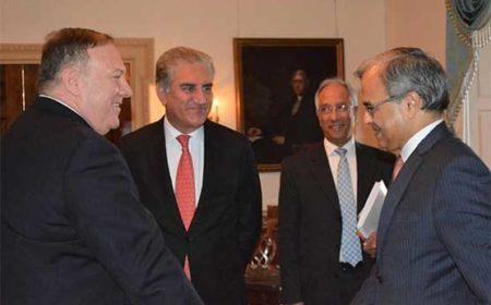 امن کیلئے پاک امریکا کاوشیں ہمیشہ سود مند ثابت ہوئیں: شاہ محمود، پومپیو سے ملاقات